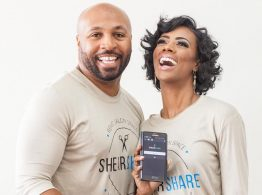 ShearShare founders Dr Tye Caldwell and Courtney Caldwell